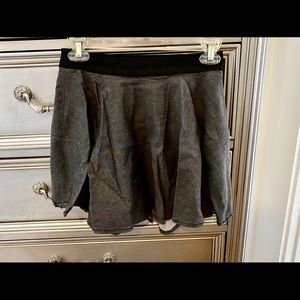 Guess black and gray zipper mini skirt